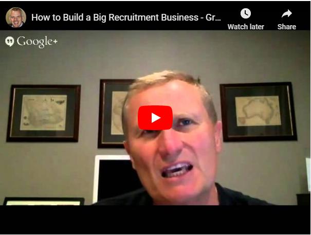 how to build a big recruitment business